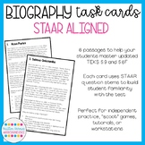 STAAR Aligned Biography Task Cards (STAAR Aligned; updated