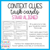 Context Clues Task Cards: Volume 1! (STAAR Aligned; TEKS 5