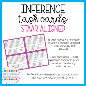 STAAR-Aligned Inference Task Cards (TEKS 4/5Fig19D; 4/5.6B)