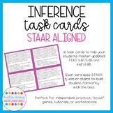 STAAR-Aligned Inference Task Cards (Print + Digital Versions)