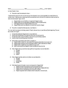 STAAR Aligned La Linea Chapter 1 Quiz