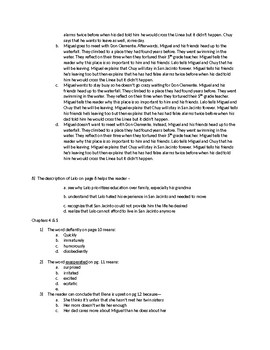 STAAR Aligned La Linea Quiz Chapters 1-5