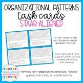 STAAR Aligned Organizational Patterns / Text Structures Task Cards (TEKS 5.11C)