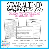 STAAR Aligned Persuasive Text and Questions (updated TEKS