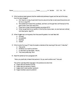 STAAR Aligned Wonder quiz 270-280