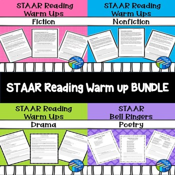 STAAR Bell Ringers - Bundle - Fiction, Nonfiction, Poetry, and Drama