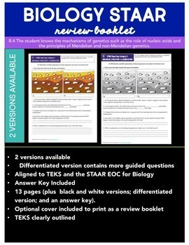 STAAR Biology Review Category 3- Biological Evolution and Classification