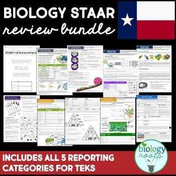STAAR Biology Review Growing Bundle