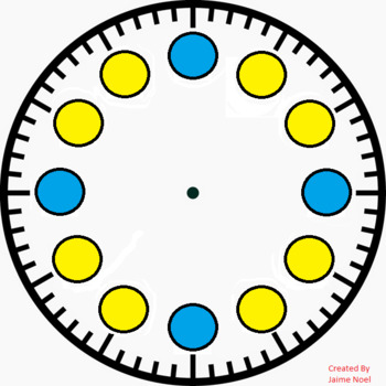 STAAR Blank Clock Template