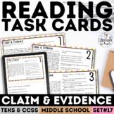 Claim & Evidence Task Cards   PDF & Google Form