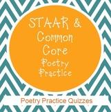 STAAR & Common Core Poetry Practice Quizzes