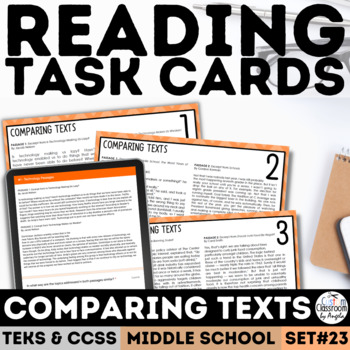 STAAR Comparing Texts Task Cards