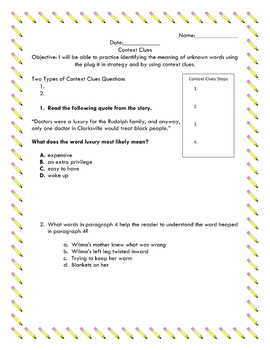 STAAR Context Clues Guided Practice