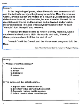 STAAR Daily 5th Grade Reading Practice for State Standardized Tests Quick Review