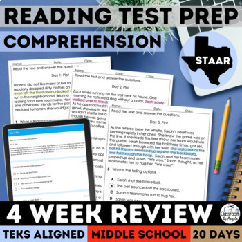 STAAR ELA Reading Review by Custom Classroom by Angela | TpT