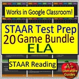 STAAR Reading Review ELA Test Prep Games BUNDLE! Get ready for state testing!
