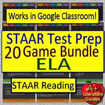 STAAR Reading Review ELA Test Prep Games Collection