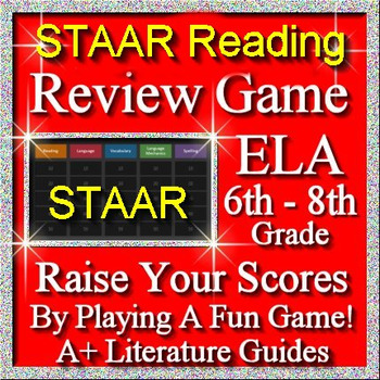 STAAR ELA Reading Review Game I Grades 6 - 8