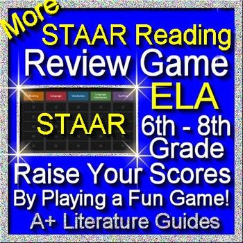 STAAR ELA Reading Review Game II Grades 6 - 8