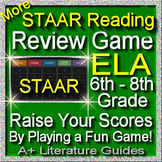 STAAR ELA Reading Review Game III Grades 6 - 8