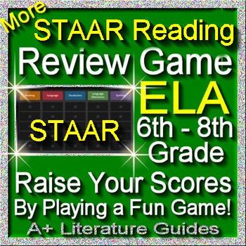 STAAR ELA Reading Review Game III Grades 6 - 8