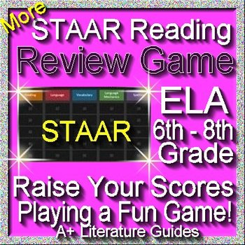 Reading STAAR Review Game VI Grades 6 - 8