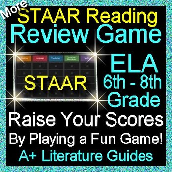 STAAR ELA Reading Review Game VII Grades 6 - 8