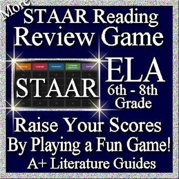 Reading STAAR Review Game VIII Grades 6 - 8