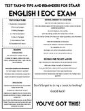 STAAR ENGLISH I EOC TEST TIPS