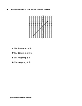 STAAR ALGEBRA 1 EOC CHECKPOINT - A.2A