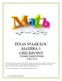 STAAR EOC ALGEBRA 1 CHECKPOINT – A.2D & A.2H Category 3