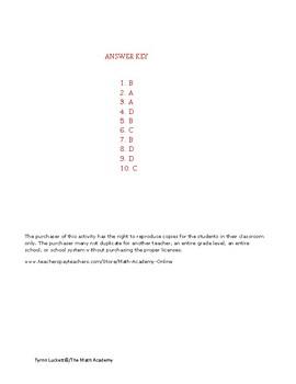 STAAR EOC Algebra 1 – Checkpoint A.10E & A.10F