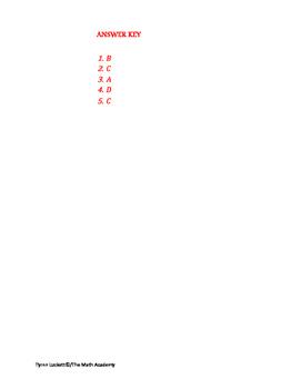 STAAR EOC Algebra 1 – Checkpoint A.6B & A.6C