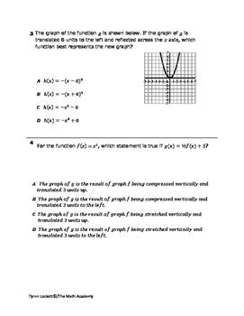 STAAR EOC Algebra 1 – Checkpoint A.7C