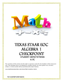 STAAR EOC Algebra 1 – Checkpoint A.7C