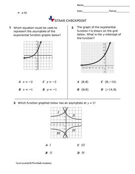 STAAR EOC Algebra 1 – Checkpoint A.9D
