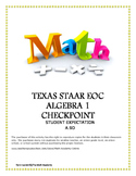 STAAR EOC Algebra 1 – Checkpoint A.9D
