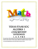 STAAR EOC Algebra 1 – Reporting Categories 1, 2, 3, 4, & 5 Checkpoint Bundle