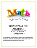 STAAR EOC Algebra 1 – Reporting Category 5 Checkpoint Bundle