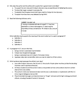 STAAR EOC ENG 1 Reading Test Practice Passage