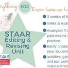 STAAR/EOC: Editing and Revising Unit