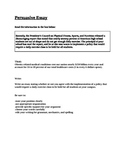 STAAR EOC Persuasive Essay Prompt - Obesity