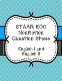 STAAR EOC Question Stems - Nonfiction English 1 & 2