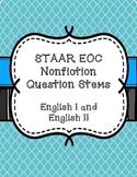 STAAR EOC Question Stems - Nonfiction English 1 & 2