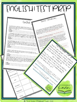 Test Prep English I- Great for EOC review by Fitzgerald's ...