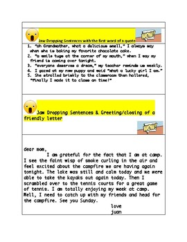 STAAR Revising and Editing: Jaw Dropping Sentences and Capitalization Practice