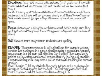 STAAR Edit Practice A