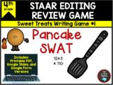 STAAR Editing Game: Pancake Swat & Task Cards TEKS 4.11D