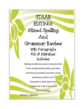 STAAR Editing: Mixed Spelling and Grammar Review