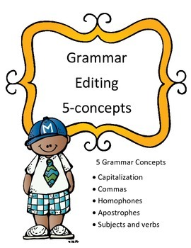 STAAR Grammar Review Editing Passage-5 Concept Quizzes
